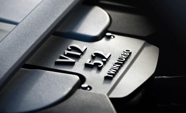2017 Aston Martin DB11 twin-turbocharged 5.2-liter V-12 engine