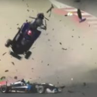 Dramatic crash sends Formula 3 car airborne