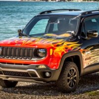 It's Lit: Harley-Inspired Jeep Renegade's Paint Job Is Fire