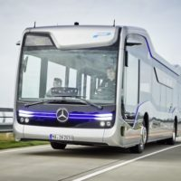 Mercedes-Benz and Tesla See a Future in Electric Self-Driving Buses