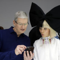 Caption Contest: Tim Cook shows Maddie Ziegler the iPhone 7
