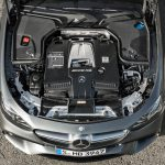 2018 Mercedes-AMG E63 twin-turbocharged 4.0-liter V-8 engine