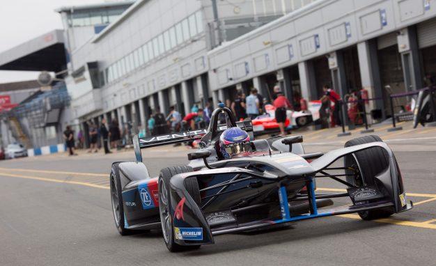 Formula E testing at Donington Park