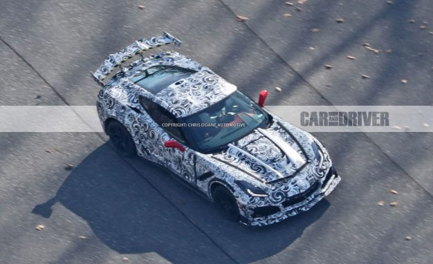 2018 Corvette Stingray ZR1 Spied Flaunting Its Insane Aero Package