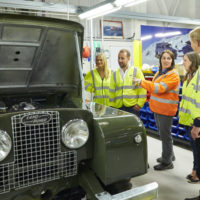 See how Land Rover restores Defenders and take one off-road