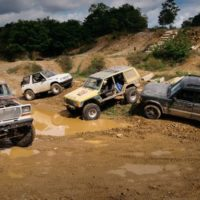 Four Teams. Four Decrepit $1500 Vehicles. It's the Battle of the Off-Road Beaters!