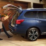 When you've got your hands full of groceries or other odds and ends, reaching to open the liftgate or fumble with a key fob can be a struggle. With a hands-free liftgate, a motion sensor below the rear bumper activates the power liftgate. In theory, it's as easy as a simple kick of the foot, although in practice these systems aren't always quite that straightforward to operate.--Found in: Nissan Pathfinder, Nissan Rogue, Ford Escape, Ford Edge, Cadillac XT5, BMW X3, Lincoln MKC, and more