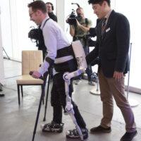We check out Hyundai's HRL exoskeleton, a robotic mobility suit for paraplegics