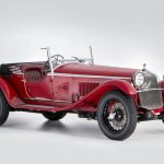 """Touted by Bonhams as """"one of the definitive sporting cars of all time,"""" this Alfa Romeo was designed and executed by legendary automotive engineer Vittorio Jano, and the coachwork was done by Zagato. After Enzo Ferrari convinced Jano to leave Fiat and come to Alfa, Jano oversaw production of the 6C 1750, which was derived from the Tipo 6C 1500, itself a descendent of the 1925 championship–winning P2 Grand Prix car that Jano had also created. This 6C's powertrain is given away by its name. It has a supercharged 1752-cc DOHC inline six-cylinder engine with a single dual-throat carburetor and a four-speed manual transmission. The 1750 combined 85 horsepower with a low and light chassis to dance its way to 1-2-3 results in the Mille Miglia and top finishes at the  Targa Florio, the Tourist Trophy, and the Spa 24 Hours.--This particular car has fully documented ownership; one collector held on to the car for more than 40 years. The bodywork and mechanical components are original, and it has been serviced by some of the industry's best. This was easily one of the most special cars in all of Arizona last week. —Tony Markovich"""