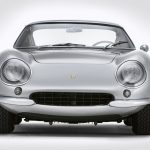 Claimed to be the second-to-last Ferrari 275GTB produced before Maranello began production of the updated quad-cam 275GTB/4, this 1966 275GTB was sold new in Bologna, Italy. Less than six months into its life, the Pininfarina-designed GTB's Italian, um, charm showed through on two different occasions, resulting in the car being sent back to Ferrari's service department. Bonhams notes that it is believed the car's original 280-hp 3.3-liter V-12 engine and five-speed manual transmission were replaced during these visits; however, there's no paperwork to back up this claim. Nevertheless, the car's current powertrain is deemed correct and maintains matching numbers.--After being shipped to Canada in the 1970s, the car later made its way to the United States, where it swapped hands a smattering of times before eventually finding a home in Switzerland in 2009. In recent months, it was painted and upholstered in its original silver-over-black scheme. —Greg Fink