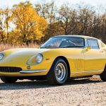 It's not too hard to find a classic Ferrari repainted in its original color; however, it's not every day you come across a half-century-old Ferrari wearing its original coat of paint. This 1966 275GTB is just such a car, its yellow paint believed to be the very same coat it left the factory wearing. With a claimed 21,000 miles on its original powertrain, this GTB further adds to its provenance by being fitted at birth with six Weber carburetors atop its 3.3-liter V-12—twice the number of carbs that lesser 275GTBs came equipped with. All that extra Venturi effect brought an extra 25 horsepower to the 12-pot engine, bringing the total up to 305 ponies.--With power channeled through a five-speed manual transmission, this 1966 GTB benefits from a number of items featured on the later quad-cam GTB/4, including a torque tube in place of an open driveshaft and a longer front-end design that increased downforce. As 275GTBs go, it's hard to imagine finding a more original and better-equipped example than this. —Greg Fink