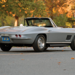 Corvette fans rarely agree on anything except that the 1967 Sting Rays powered by 427-cubic-inch L88 V-8s are the most desirable. Only 20 of the factory-engineered racers were built to compete in venues ranging from SCCA Nationals to the 24 Hours of Le Mans. They earned class wins at Daytona and Sebring, and Bob Bondurant was clocked exceeding 170 mph piloting one on the Mulsanne straight.- -The heart of the L88 is an iron-block, aluminum-head big-block V-8 with a 12.5:1 compression ratio, a single Holley four-barrel carburetor, and a special cold-air-induction hood. Chief engineer Zora Arkus-Duntov acknowledged that the 430-hp rating was imaginary, claiming that removing the mufflers unleashed 640 horsepower.--Only 10 L88 roadsters were built, and the car shown here is the only one that left the factory wearing Silver Pearl paint. Richard Reitman of Watertown, Massachusetts, purchased this Corvette from a Boston dealer in the spring of 1967. His invoice listed heavy-duty brake, suspension, and transmission equipment plus a transistor ignition and side exhaust. Reitman paid about $ 1000 less than the $ 6004.70 sticker total, adding a factory off-road exhaust system after delivery.--Although it was never exposed to serious competition, this Corvette's engine block was replaced at some point, and it underwent a comprehensive restoration in 2012. The hammer fell at $ 1.98 million at Worldwide Auctioneers' sale in Scottsdale. Ignoring inflation, that's an appreciation of 39,500 percent. —Don Sherman