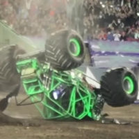 Dennis Anderson recovering after scary crash in the Grave Digger monster truck