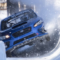 Subaru turns a WRX STI into a bobsled and (barely) makes it work