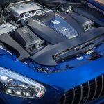 2018 Mercedes-AMG GT Roadster twin-turbocharged 4.0-liter V-8 engine
