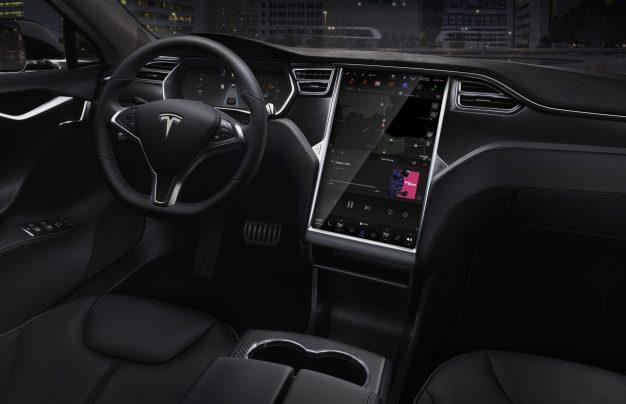 Tesla Model S dash
