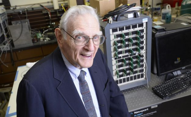 John Goodenough, professor in the Cockrell School of Engineering at The University of Texas at Austin and co-inventor of the lithium-ion battery